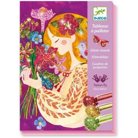 The Scent of Flowers Glitter Boards - Djeco