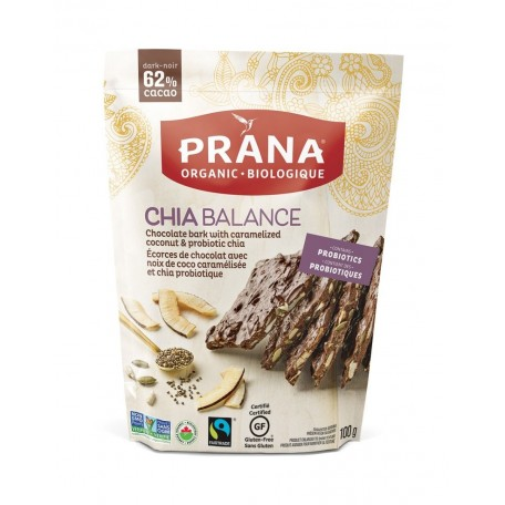 Chia Balance Caramalized Coconut and Probiotic Chia Chocolate Bark - Prana