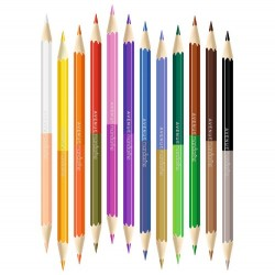 12 crayons de couleur double pointes - Avenue Mandarine