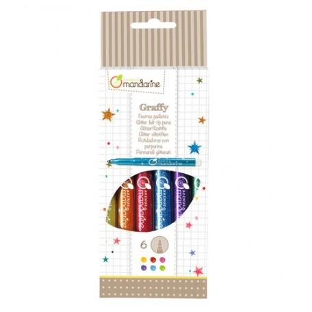 Glitter Felt-Tip Pens - Avenue Mandarine