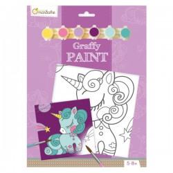 Ensemble de peinture Graffy Paint Licorne - Avenue Mandarine Avenue Mandarine