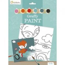 Ensemble de peinture Graffy Paint Renard - Avenue Mandarine Avenue Mandarine