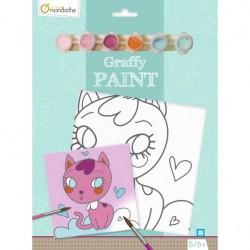 Ensemble de peinture Graffy Paint Chat - Avenue Mandarine