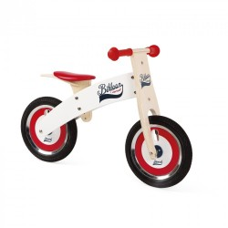 Red and White Bikloon Balance Bike - Janod