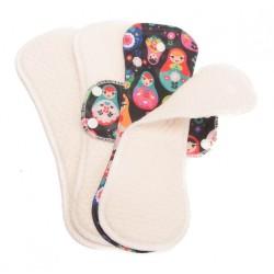 3 serviette hygiéniques lavables ultra-absorbantes Fabulous Flo - Bummis
