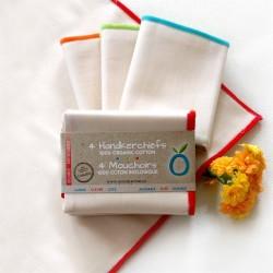 Paquet de 4 mouchoirs de coton réutilisables - Öko Créations