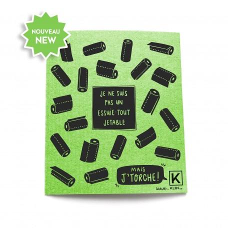 Essuie-Tout réutilisable à Motifs - Kliin - Noir sur Vert