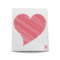 Essuie-Tout réutilisable à Motifs Coeur - Kliin Kliin