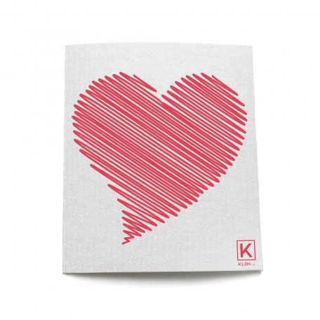 The Reusable Towel with patterns Heart- Kliin