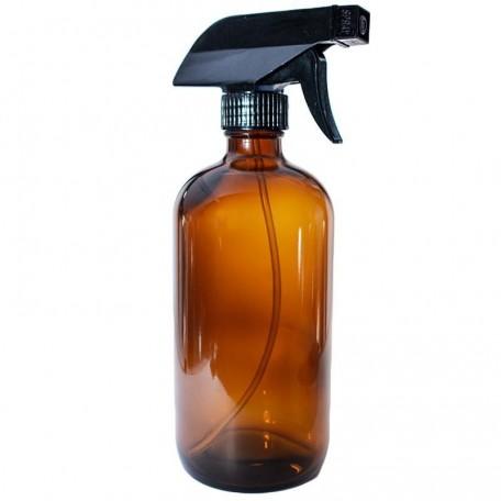 Bouteille avec vaporisateur en verre ambré 500 ml - La Looma La Looma