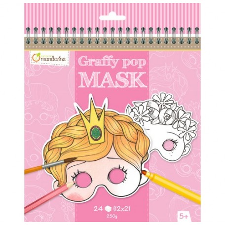 Graffy Pop Masks Princesses and Other Characters - Avenue Mandarine