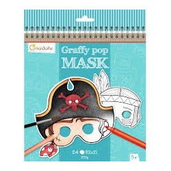 Graffy Pop Masks Pirates and Other Characters - Avenue Mandarine