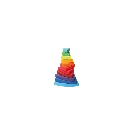 Wooden Triangle Stacking Tower - Grimm's