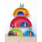 Wooden Rainbow-Colored Building Boards - Grimm's