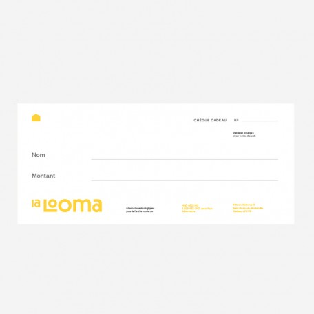 Chèque Cadeau 10$ La Looma