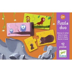 Puzzle Duo Mommy and Baby - Djeco