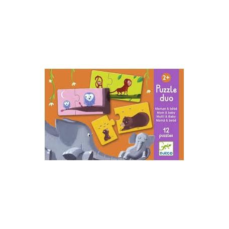 Puzzle Duo Maman et bébé - Djeco Djeco