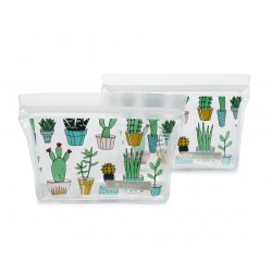 Ziptuck Reusable Snack Bags Cacti - Full Circle