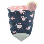 Pink Flowers Bubbly Teething Bib - Perlimpinpin