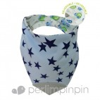 Blue Stars Bubbly Teething Bib - Perlimpinpin