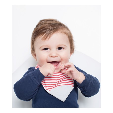 Pear Bubbly Teething Bib - Perlimpinpin
