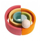 Wooden Rainbow 6 pieces pastel - Grimm's