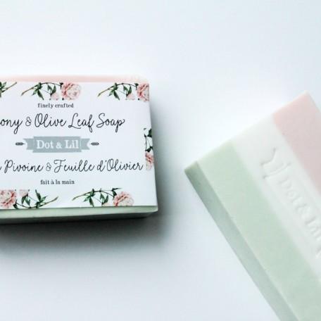 Peony and Olive Leaf Soap - Dot & Lil