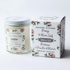 Peony and Olive Leaf Soy Candle - Dot & Lil