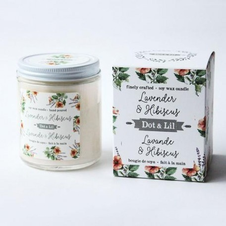 Lavender & Hibiscus Soy Candle - Dot & Lil