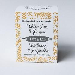 Bougie de soya Thé blanc & Gingembre - Dot & Lil
