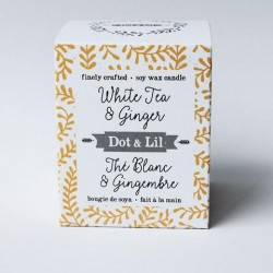White tea & Ginger Soy Candle - Dot & Lil