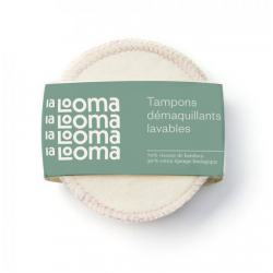 8 Tampons Démaquillants Lavables Bambou et Coton Biologique - La Looma La Looma
