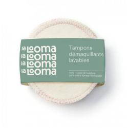 2 Tampons Démaquillants Lavables Bambou et Coton Biologique - La Looma La Looma