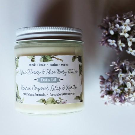 Beurre corporel Lilas et Karité - Dot & Lil