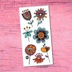 Pretty Flowers Temporary Tattoo - Pico
