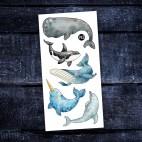 Tatouages temporaires Les belles baleines - Pico Pico