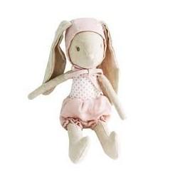 Lapine en peluche avec son bonnet rose - Alimrose Alimrose