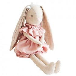 Lapine en peluche dans son habit rose - Alimrose Alimrose
