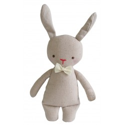 Bunny Linen Mini Rattle - Alimrose