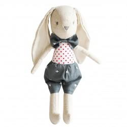 Baby Louie Bunny with his Grey Bow Tie - Alimrose
