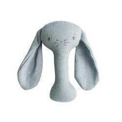 Grey Bobby Bunny Stick Rattle - Alimrose