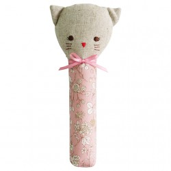 Hochet couineur Odette le chat fleuri - Alimrose Alimrose