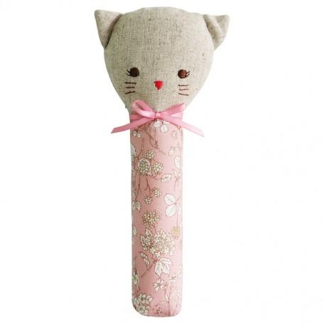 Pink Blossom Odette Kitty Squeaker Rattle - Alimrose