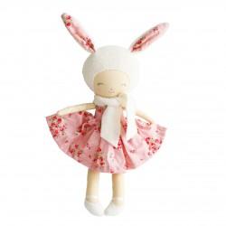 Belle la lapine en peluche avec sa robe rose - Alimrose Alimrose