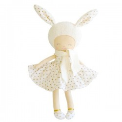 Belle la lapine en peluche avec sa robe dorée - Alimrose Alimrose
