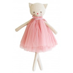 Aurelie the Cat with her Pink Dress - Alimrose