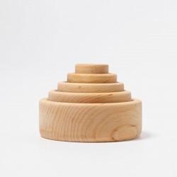 Bols à empiler en bois naturel - Grimm's Grimm's