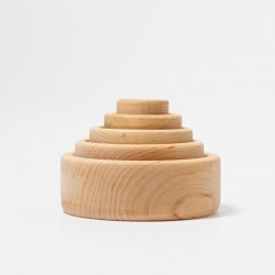 Natural Wood Stackable Bowls - Grimm's