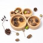 Natural Wood Stackable Bowls - Grimm's