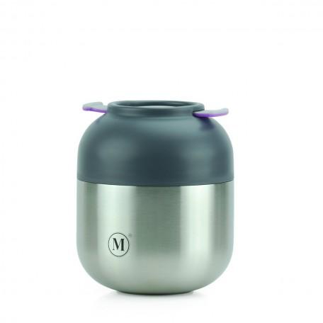 Medium Grey Insulated Food Jar - Minimal